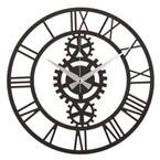 Horloge murale en métal indus - diam. 50