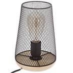 Lampe à poser en fer et bois - h. 23 cm