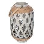 Lanterne en bambou ethnik - h. 32 cm