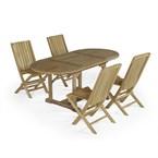 Salon de jardin teck alizé + 4 chaises