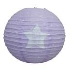 Lanterne boule étoile violette ø35cm