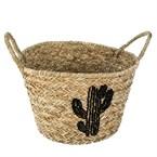 Panier en osier cactus