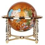 Globe terrestre 33cm 4 pieds cuivre