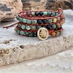 Bracelet d'équilibre en perles de jaspe
