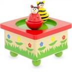 Boite à musique abeille et coccinelle