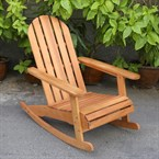 Rocking chair adirondack en eucalyptus