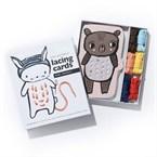Cartes à lacer - bébés animaux