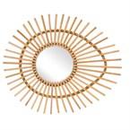 Miroir en rotin vintage ellipse
