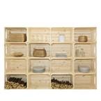 Bibliothèque en bois simple et pratique
