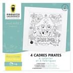 4 cadres pirates à colorier et fabriquer