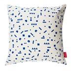 Coussin 40 x 40 cm gommettes bleues - de