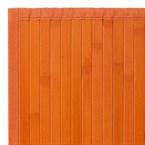 Tapis bambou orange - couleur : orange -