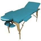 Table de massage 3z bois bleu turquoise
