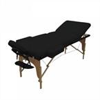 Table de massage 13cm 3z bois noir