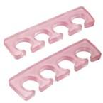 Paire séparateurs d'orteils rose