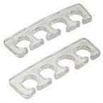 Paire séparateurs d'orteils transparent
