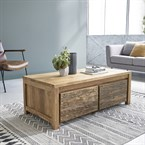 Table basse en bois de teck recyclé