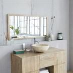 Miroir en bois d'hévéa 120