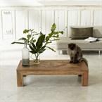 Table basse bois de teck recyclé