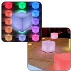 Siège cube led multicolore 40x40x40cm