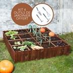 Kit potager butternut + outils de jardin
