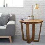 Bout de canapé rond en bois de mindy