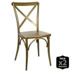 Lot de 2 chaises industriel-vintage