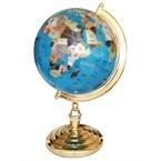 Globe terrestre 33cm bleu ciel 1 pied