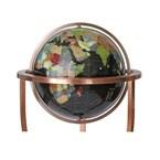 Globe terrestre 45cm noir sur 3 pieds