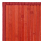 Tapis bambou rouge - couleur : rouge - t