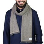 Echarpe cachemire et laine bicolore