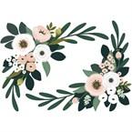 Stickers decor fleuri